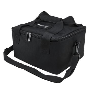 Compact Padded Zippered Ballistic Helmet Bag With Two Molle Straps - Black