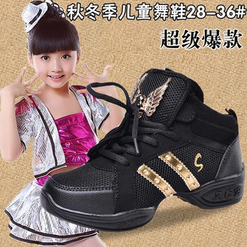 Kids Sneakers New Brand Sports Platform Wedge Women Girls Children Hip Hop Jazz Modern Dance Shoes