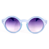 Chicwish Round Color Black sunglasses  Blue