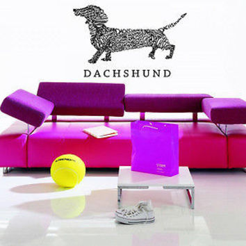Dachshund Dog Puppy Breed Pet Animal Family Wall Sticker Decal Mural 2753