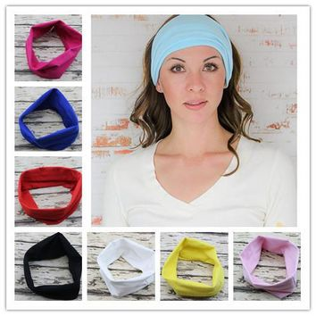 Headband Bandana hijab Turban For Women Stretch Headwrap Soft Stretch Cotton Headband Turbante Hair Accessories 1PC