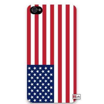 Premium Direct Print American USA National Flag iphone 6 Quality Hard Snap On Case for iphone 6/Apple iphone 6 - AT&T Sprint Verizon - White Case PLUS Bonus RCGRafix The Best Iphone Business Productivity Apps Review Guide