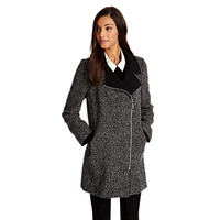 Buy Oasis Salt And Pepper Biker Coat, Black/White online at John Lewis