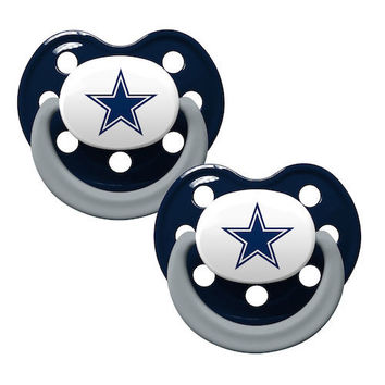 Dallas Cowboys 2pk Baby Pacifier