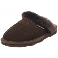 BEARPAW Women's Loki 2 Shearling Slipper,Chocolate,7 M US