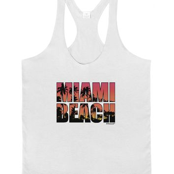Miami Beach - Sunset Palm Trees Mens String Tank Top by TooLoud