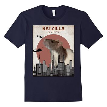 Ratzilla Funny Rat T-Shirt | Cute Japanese Mouse Lovers Gift