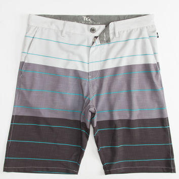 Trgl Striped Mens Hybrid Shorts - Boardshorts And Walkshorts In One Charcoal  In Sizes