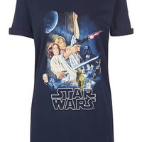 Star Wars Print PJ Tee - Navy Blue