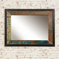 Bonsoni New Baudouin Mirror large (Hangs landscape or portrait) Shabby Chic Vintage Reclaimed Lumber