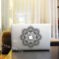 Flower decal mac pro decals stickers sticker Apple Mac laptop vinyl 3M surprise gift for her him beautiful 0052 小