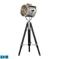 Curzon Adjustable LED Floor Lamp in Chrome and Black Chrome,Black
