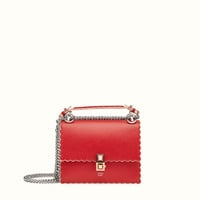 Red leather mini-bag - KAN I SMALL | Fendi | Fendi Online Store