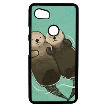 Significant Otters Otters Holding Hands Google Pixel 2XL Case