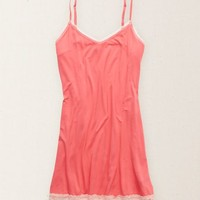 Aerie Women's Lace Hem Nightie (Pink Bath)