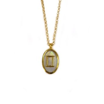 Mother of Pearl Gemini Pendant