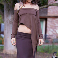 Elven Over-Skirt Shirt in Brown, light brown, Black or Purple