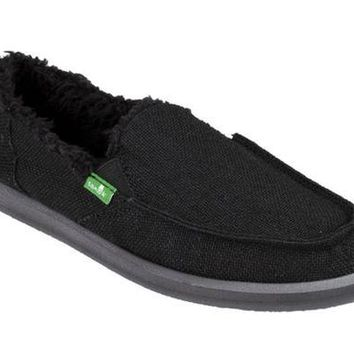DCCKAB3 Sanuk Donna Hemp Chill Black Sidewalk Surfers