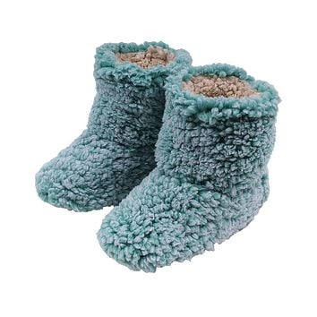 Sherpa Fleece Booties in Island Reef and Oatmeal by Live Oak