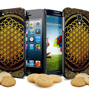 bring me the horizon gold cover album for iPhone 4, iPhone 4s, iPhone 5, Samsung Galaxy S3, Samsung Galaxy S4 Case