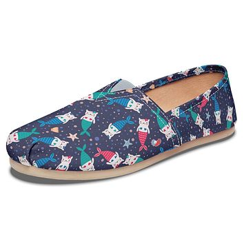 Mermaid Cat Casual Shoes