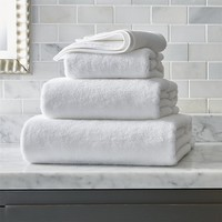 Turkish Cotton White Bath Towels