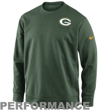 Nike Green Bay Packers Sideline Shield Nailhead Performance Sweatshirt - Green