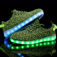 2016New Led Casual Shoes Glowing 11Colors LED Men Women Fashion Luminous Led Light UP Shoes for Adults Size35-45 chaussure homme