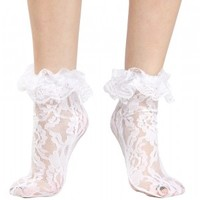 LOLITA LACE ANKLE SOCKS WHT
