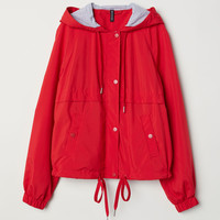 Hooded Jacket - Bright red - Ladies | H&M CA