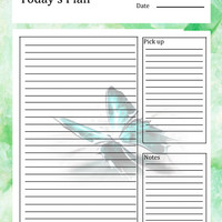 Printable Day Planner - Planner Pages - Daily Planner - Homeschool Planner - Homeschool Printables - Mom Printables - Orginizational Print