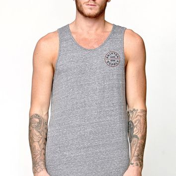 Brixton Oath Heather Gray Tank Top - Mens Tee - Grey