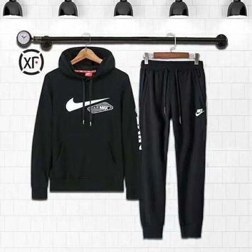 ESBUF3 Nike Fashion Casual Hoodie Sweater Pants Trousers Set Two-Piece G-MLDWX