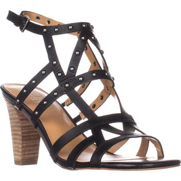 Franco Sarto Calesta Heeled Sandals, Black, 7.5 US / 37.5 EU
