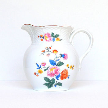 Antique Porcelain Milk Pitcher Hand Painted Czechoslavakia Count Thun