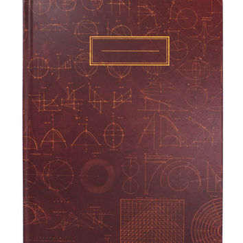 Vintage Mathematics Notebook (Recycled Paper) Geometry Trigonometry Numbers Smart Math Science Class Learning Student Journal Grid