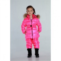 Livobu Kids Pink Hooded Down Snowsuit With Fur,Livobu.com - Like it,Love it,Buy it!