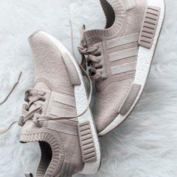 """Adidas"" NMD_R1 Primeknit Vapour Trending Fashion Casual Running Sports Shoes Khaki G"