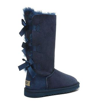 """UGG"" Autumn And Winter Fashion New Women male Fashion Wool Snow Boots"