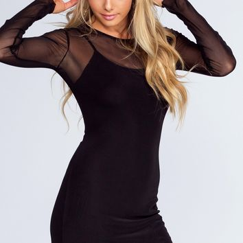 Unforgettable Mesh Dress - Black