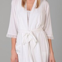 Juicy Couture I Do Collection Robe with Heart Mesh Trim