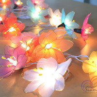 Colorful Fairy Lily Flowers Lighting Modern Lighting String Lights for home decorate 20 Lights/Set