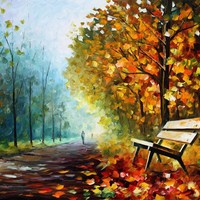 LONELY BENCH — PALETTE KNIFE Oil Painting On Canvas By Leonid Afremov - Size 30X40. 10% discount coupon as well - deviantart10off