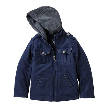 Urban Republic Wool Military Jacket - Boys 4-7