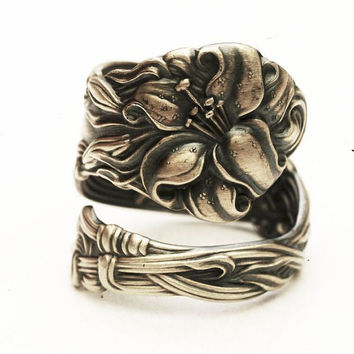 Spoon Ring Lovely Frontenac Victorian Era Sterling by Spoonier