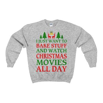Bake Cookies and Watch Christmas Movies Ugly Christmas Sweater