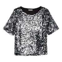 Sequined blouse - from H&M