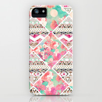Aztec Floral  Diamond iPhone & iPod Case by Girly Trend