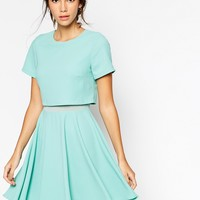 ASOS Crepe Crop Skater Dress
