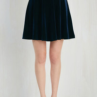 Short Length Full Eternal Echo Skirt in Sapphire